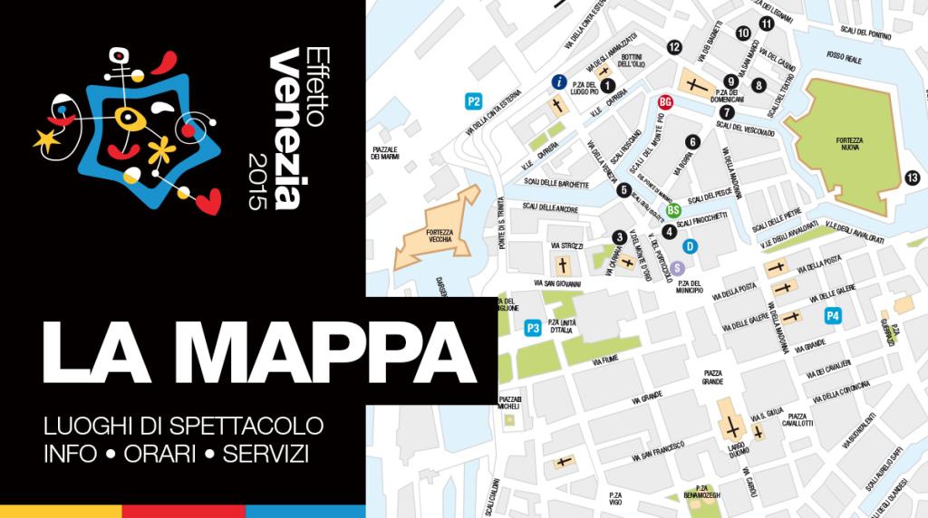 La mappa di Effetto Venezia 2015