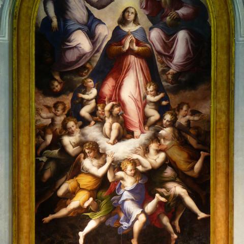 Livorno, Chiesa di Santa Caterina. Pala del Vasari.
