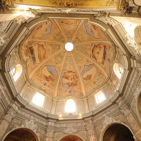Livorno, Chiesa di Santa Caterina. Volta affrescata. Foto Marco Filippelli